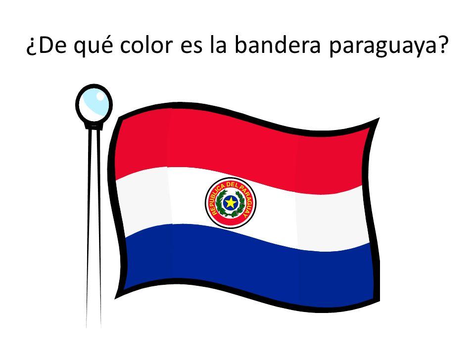 ¿De qué color es la bandera paraguaya
