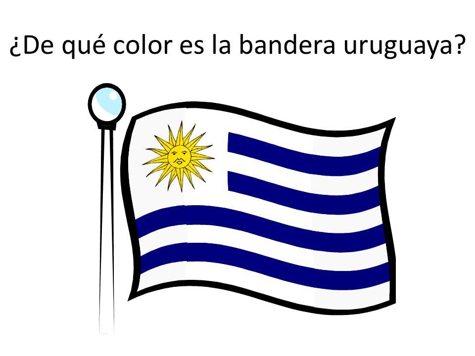 ¿De qué color es la bandera uruguaya