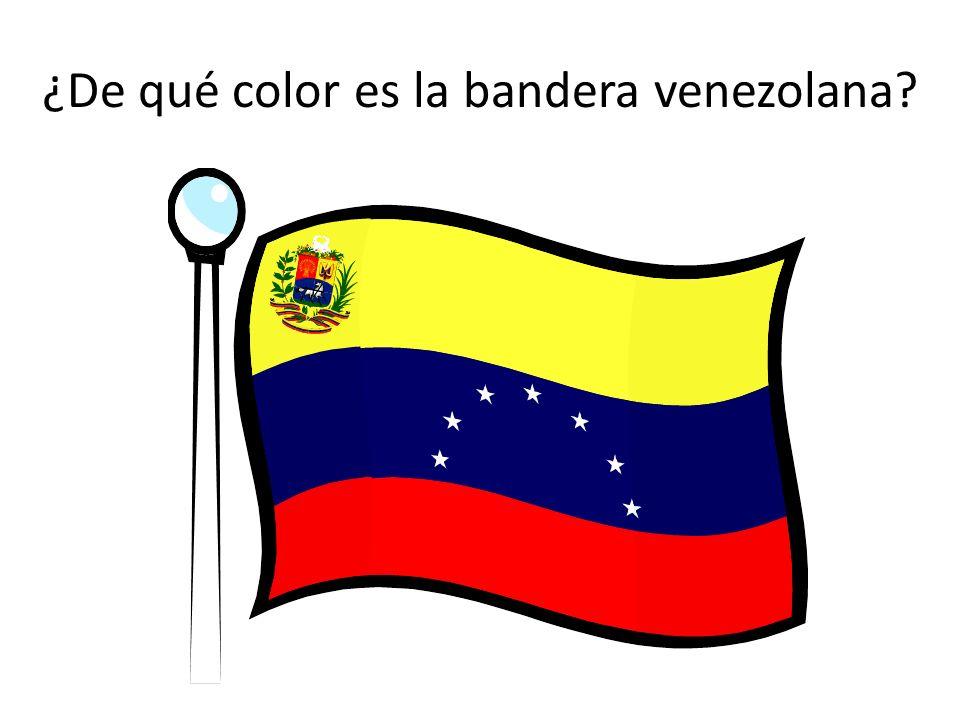 ¿De qué color es la bandera venezolana