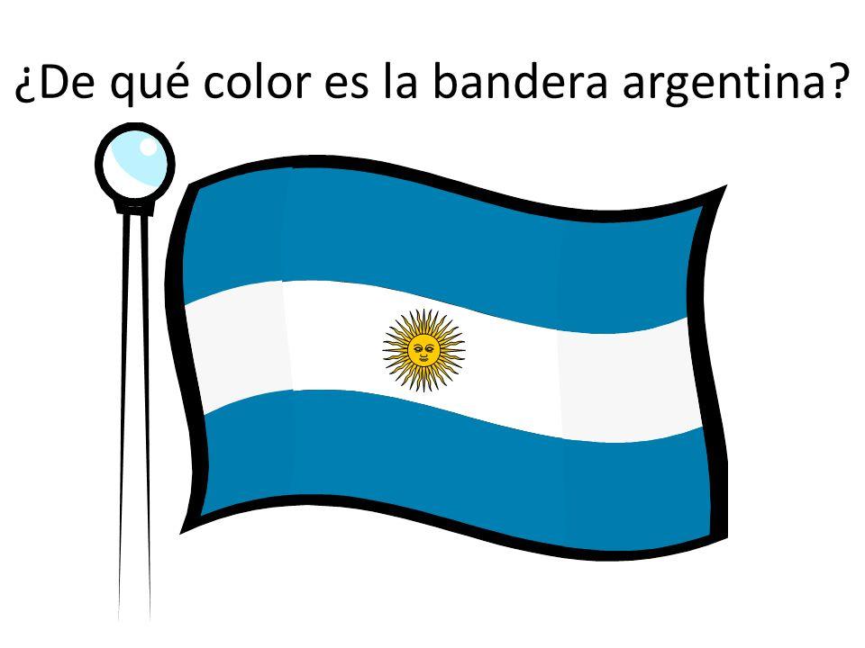 ¿De qué color es la bandera argentina