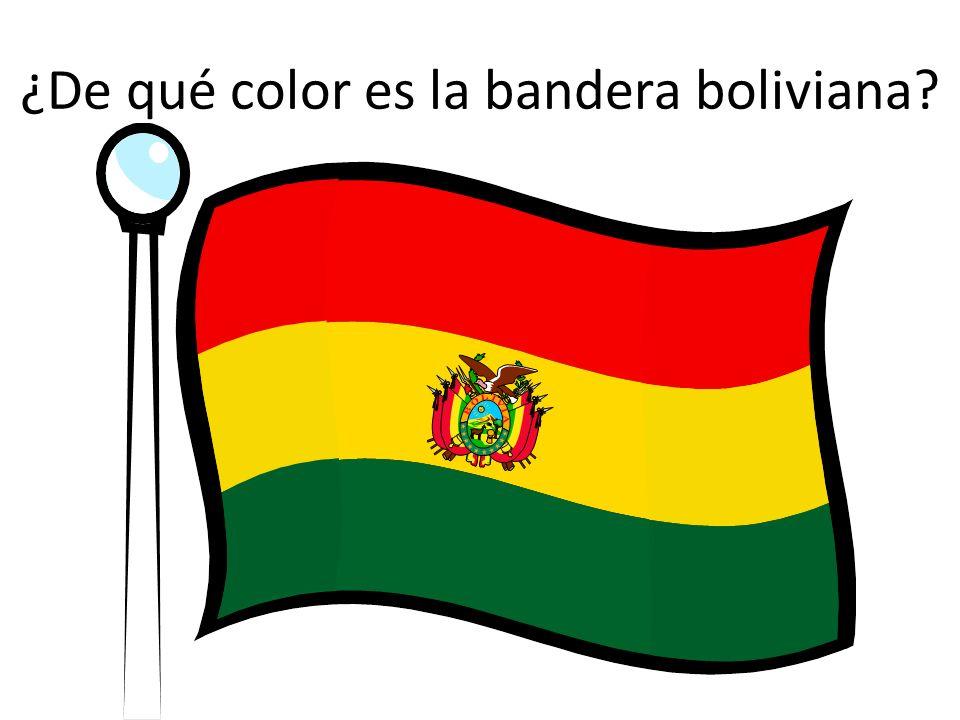¿De qué color es la bandera boliviana