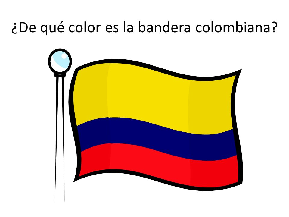 ¿De qué color es la bandera colombiana