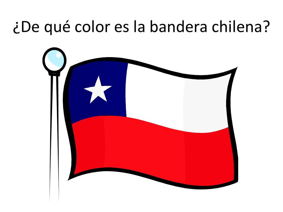 ¿De qué color es la bandera chilena