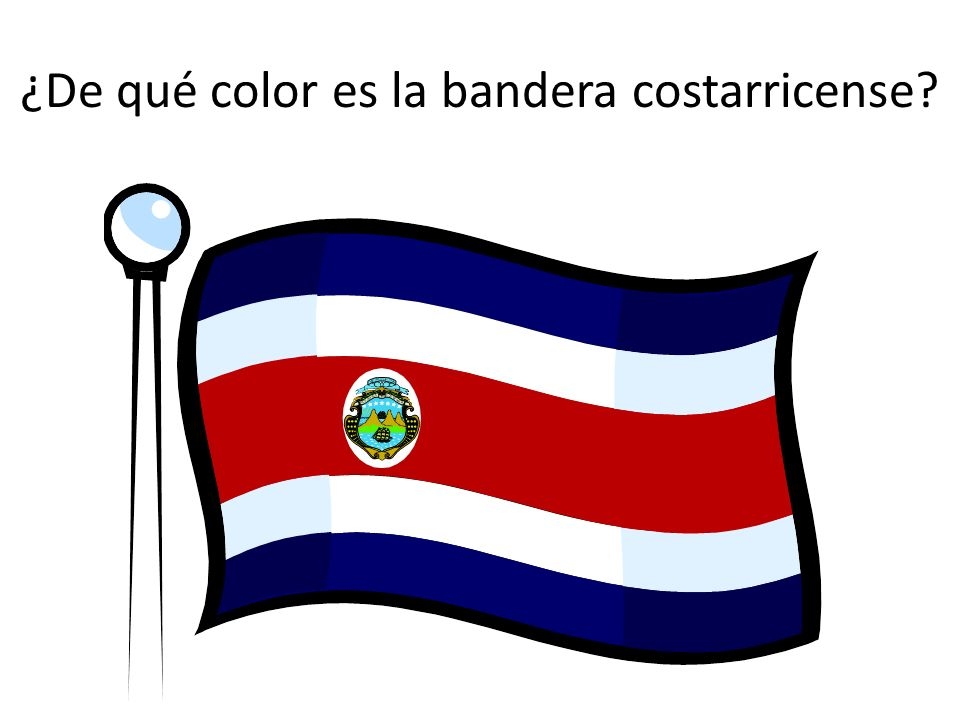 ¿De qué color es la bandera costarricense