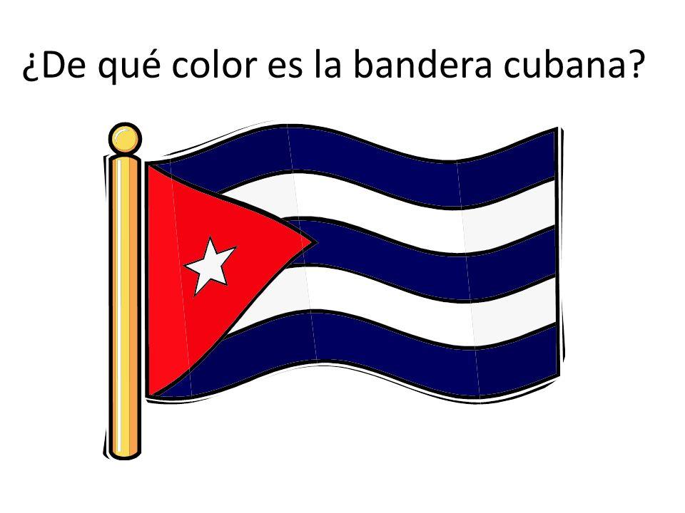 ¿De qué color es la bandera cubana