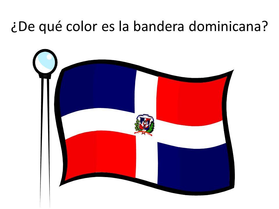 ¿De qué color es la bandera dominicana