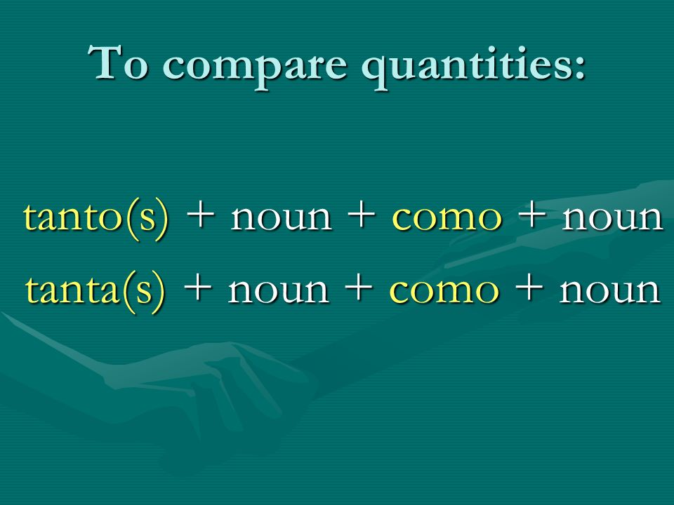 To compare quantities: