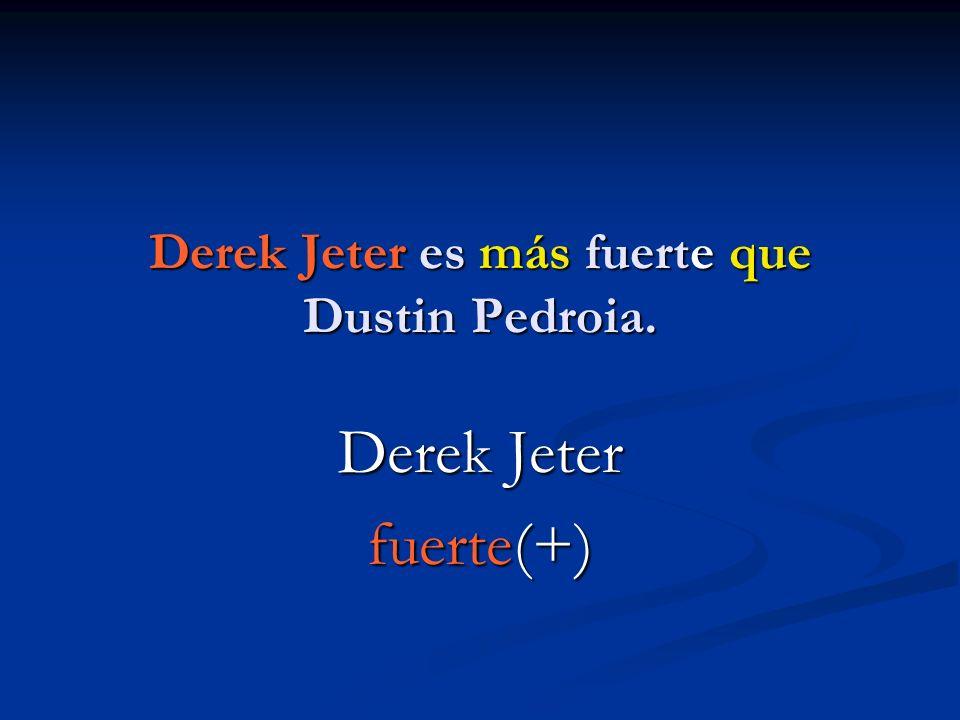Derek Jeter es más fuerte que Dustin Pedroia.