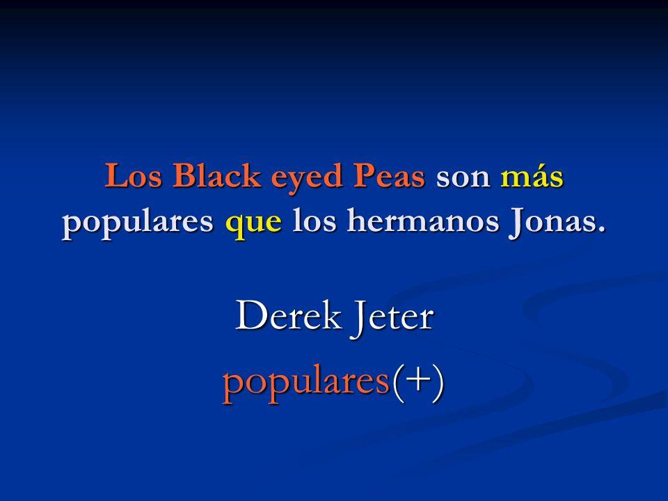 Los Black eyed Peas son más populares que los hermanos Jonas.