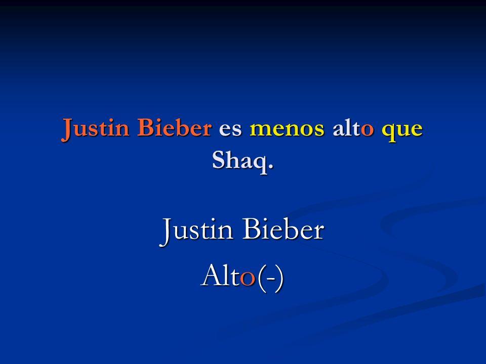Justin Bieber es menos alto que Shaq.