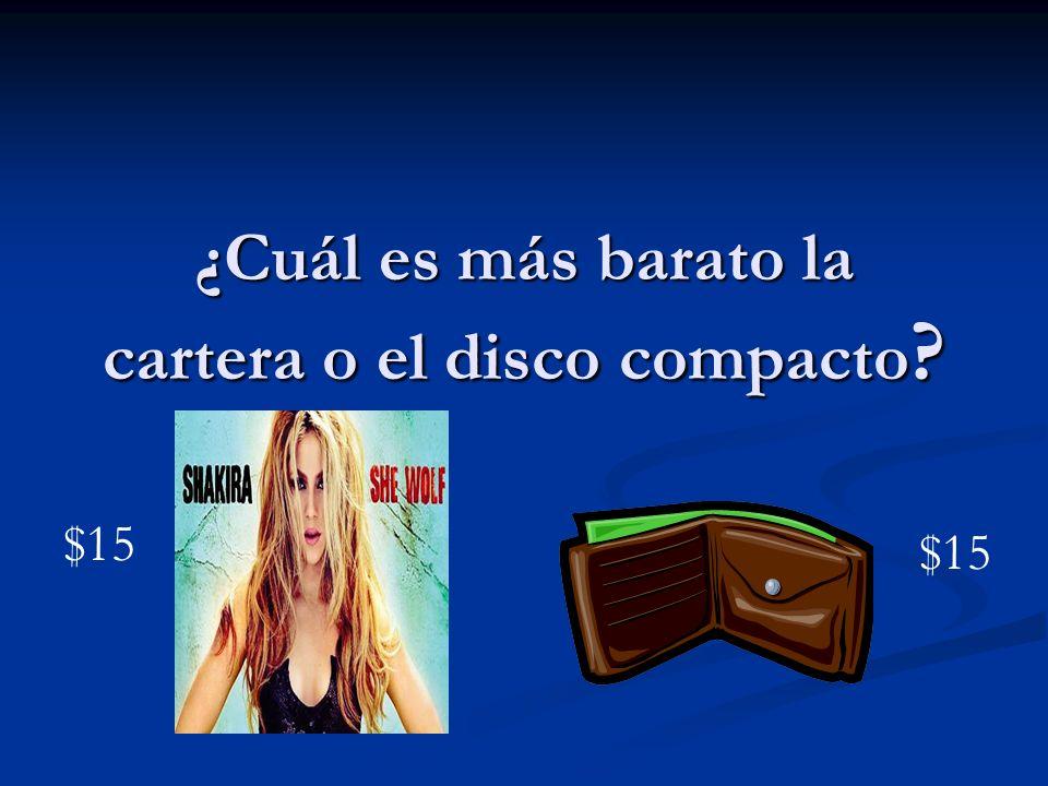 ¿Cuál es más barato la cartera o el disco compacto