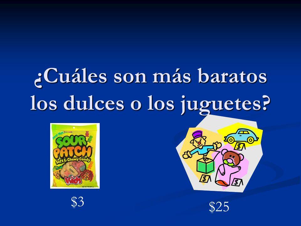 ¿Cuáles son más baratos los dulces o los juguetes