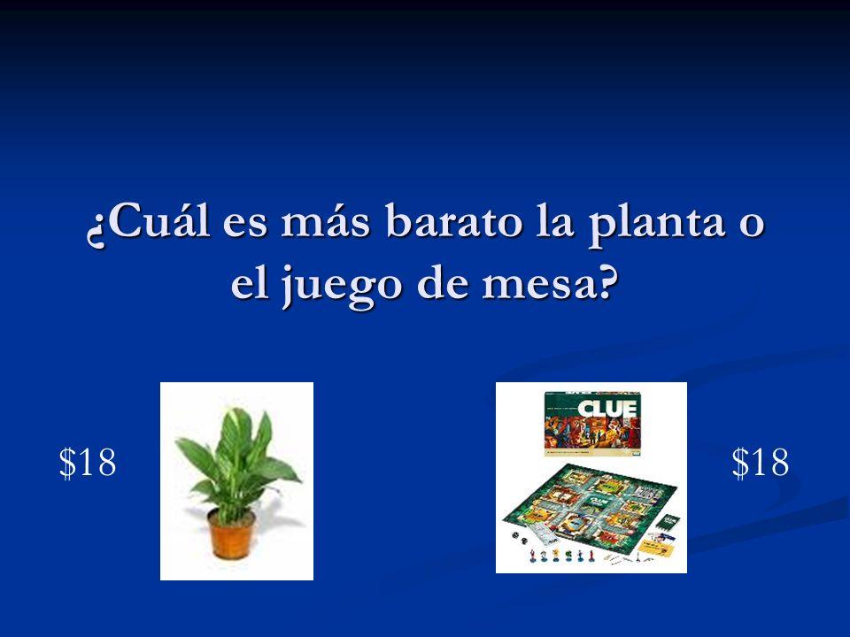 ¿Cuál es más barato la planta o el juego de mesa