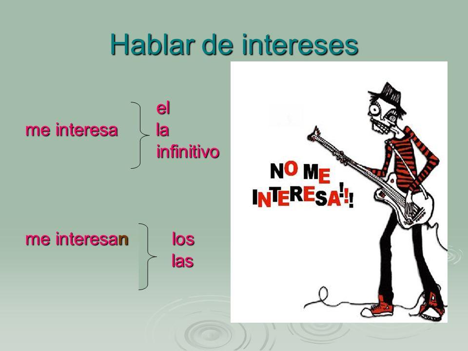 Hablar de intereses el me interesa la infinitivo me interesan los las