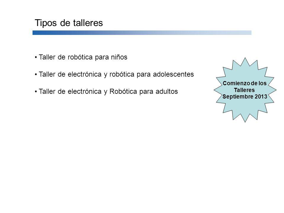 Tipos de talleres Taller de robótica para niños