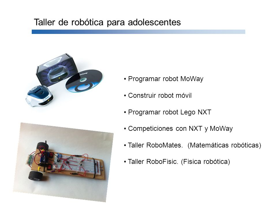 Taller de robótica para adolescentes