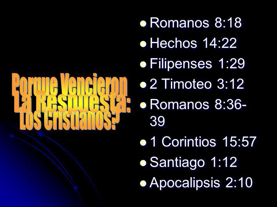 Romanos 8:18 Hechos 14:22 Filipenses 1:29 2 Timoteo 3:12