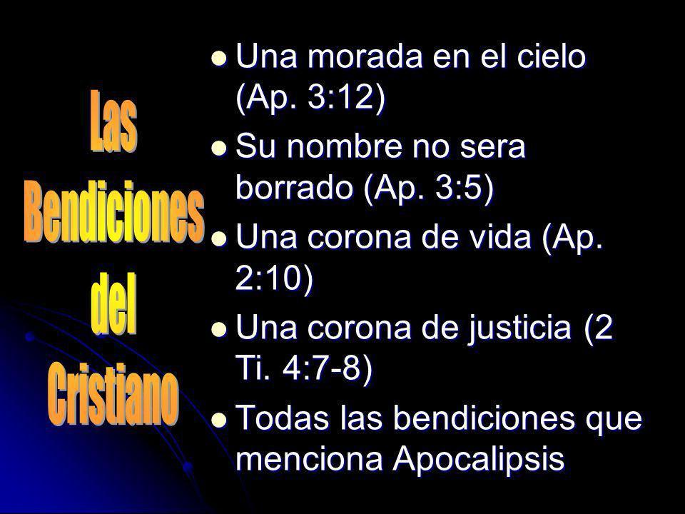 Una morada en el cielo (Ap. 3:12)