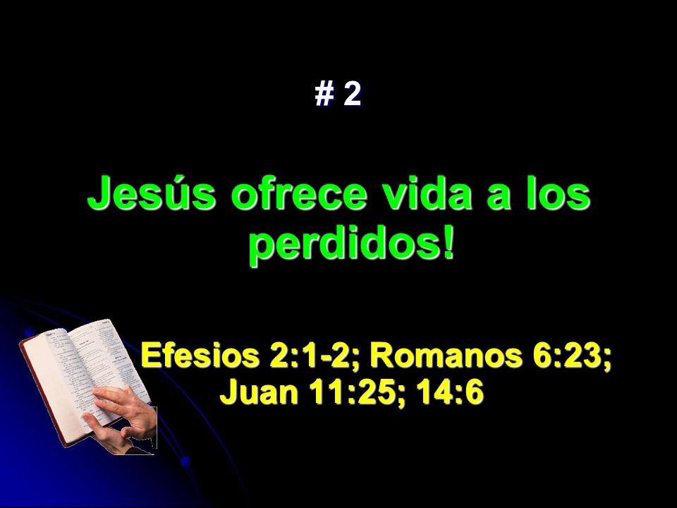 Jesús ofrece vida a los perdidos!
