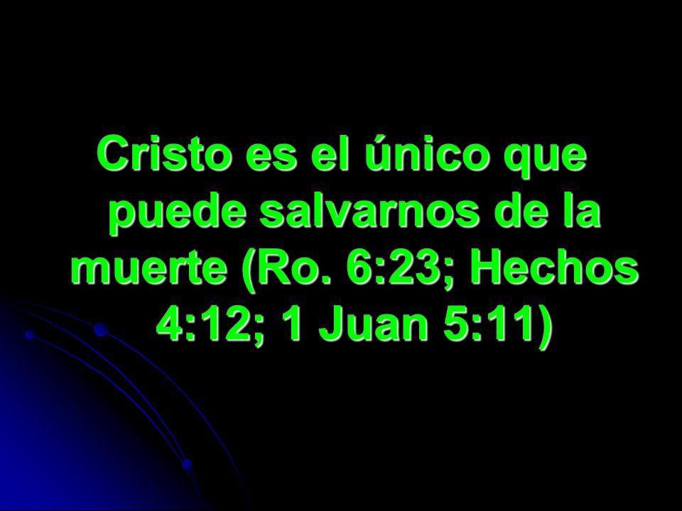 Cristo es el único que puede salvarnos de la muerte (Ro