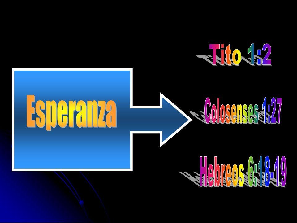 Tito 1:2 Esperanza Colosenses 1:27 Hebreos 6:18-19