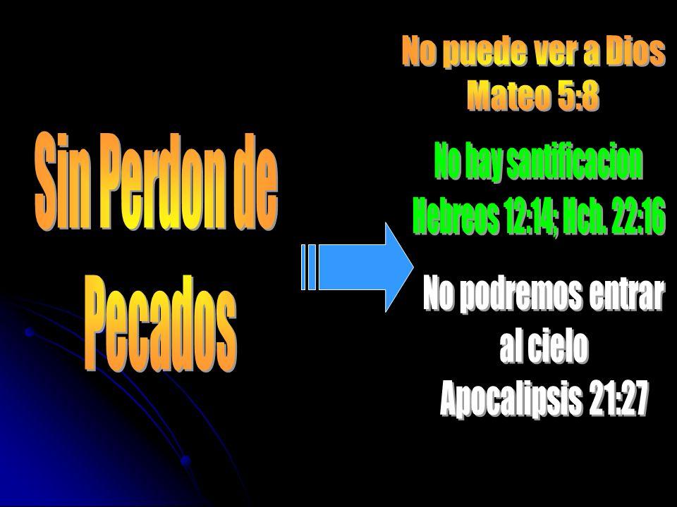 Sin Perdon de Pecados No puede ver a Dios Mateo 5:8
