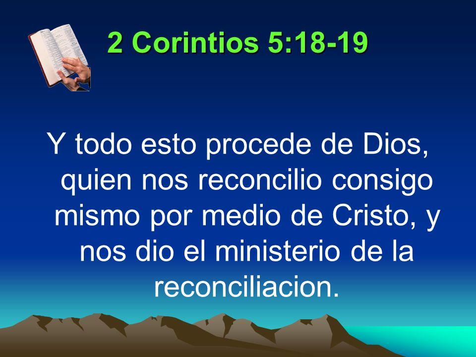 2 Corintios 5:18-19
