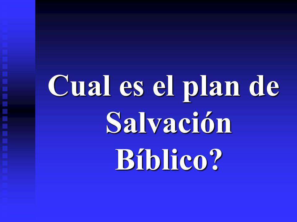 Cual es el plan de Salvación Bíblico