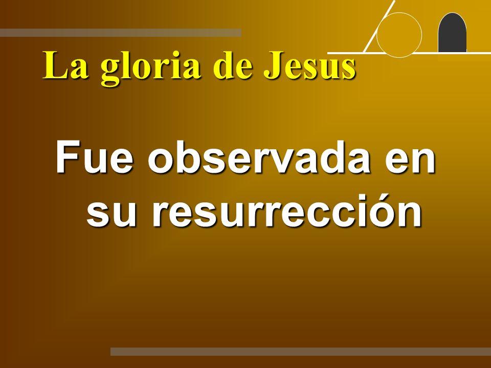 Fue observada en su resurrección