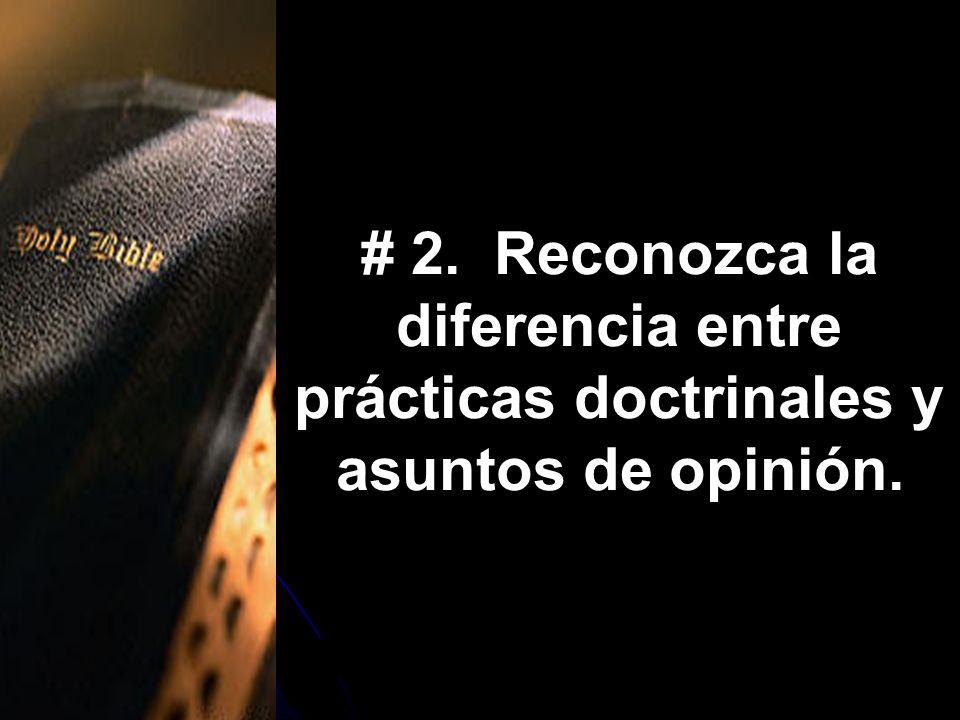 prácticas doctrinales y