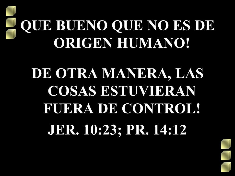 QUE BUENO QUE NO ES DE ORIGEN HUMANO!