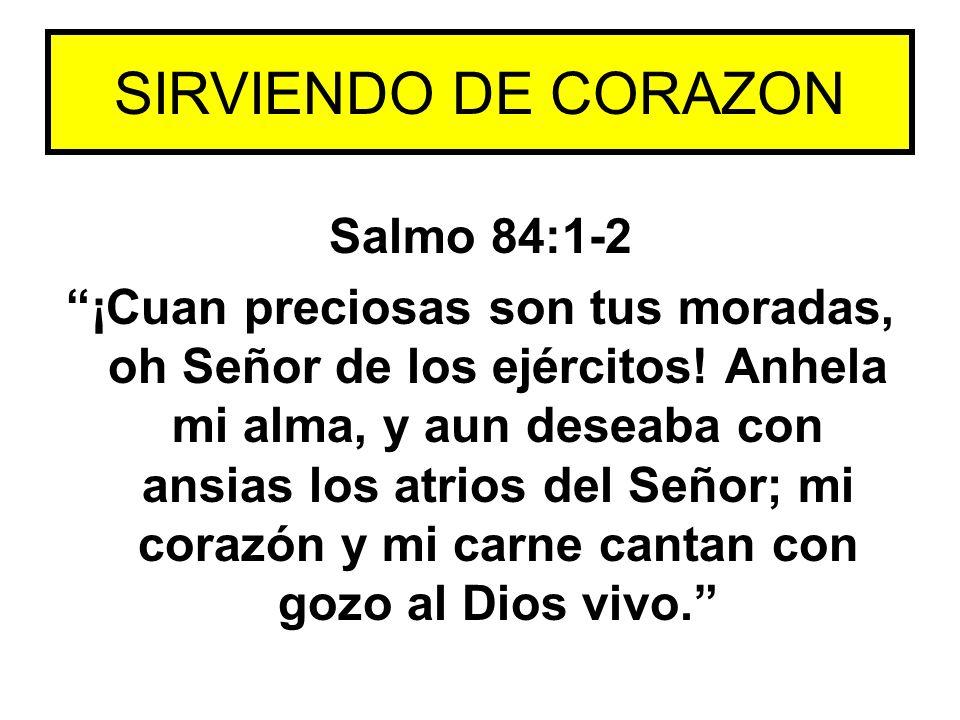 SIRVIENDO DE CORAZON Salmo 84:1-2