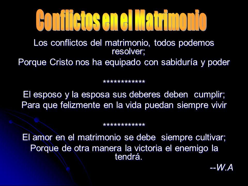 Conflictos en el Matrimonio