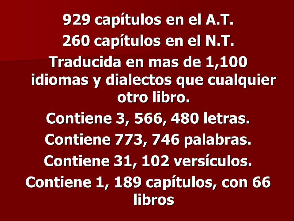Contiene 1, 189 capítulos, con 66 libros