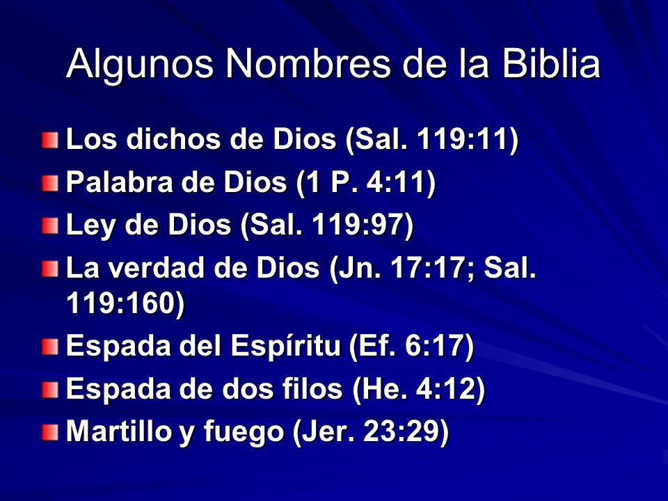 Algunos Nombres de la Biblia