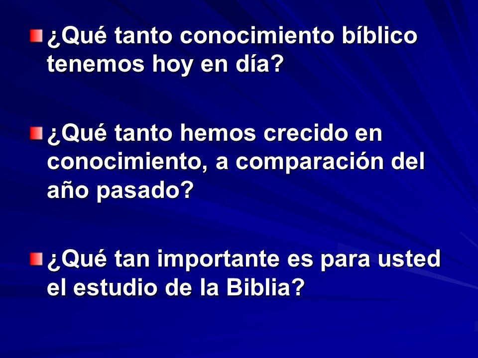 ¿Qué tanto conocimiento bíblico tenemos hoy en día