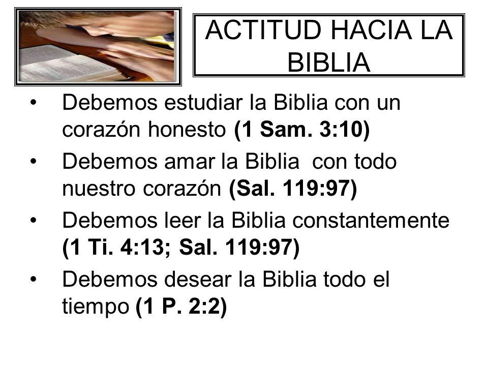 ACTITUD HACIA LA BIBLIA