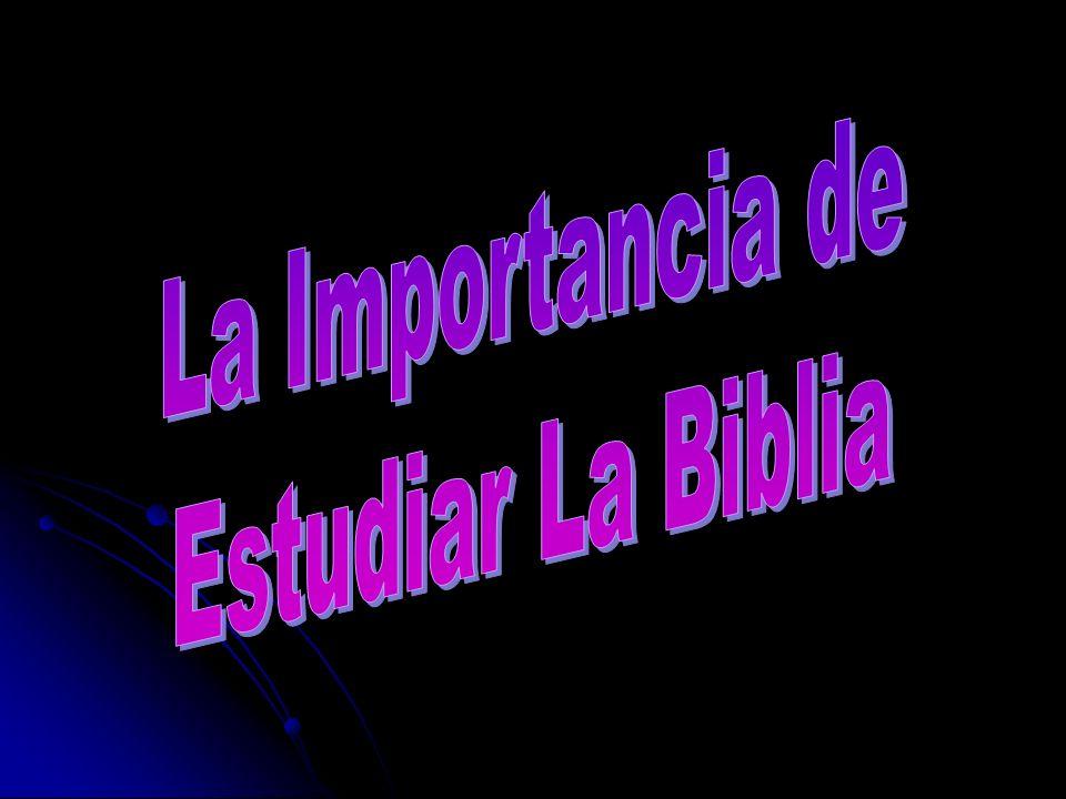 La Importancia de Estudiar La Biblia