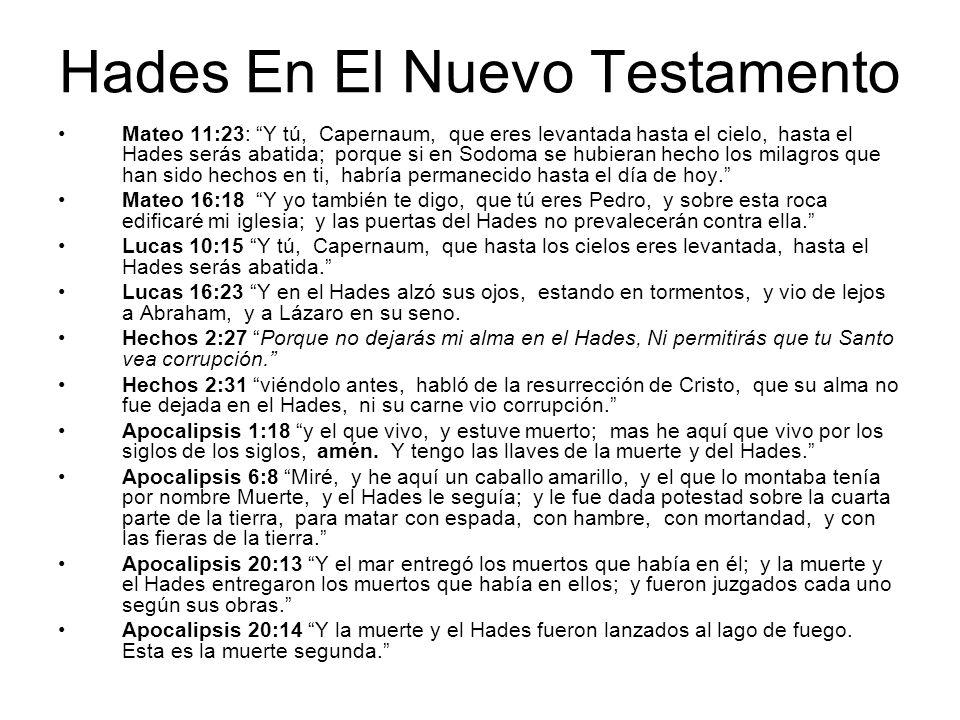 Hades En El Nuevo Testamento