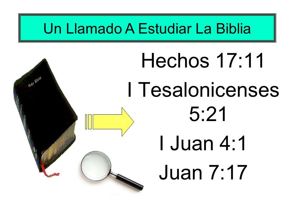 Un Llamado A Estudiar La Biblia