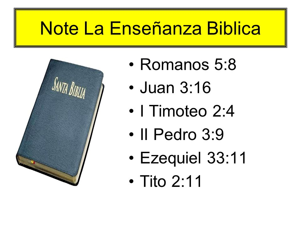 Note La Enseñanza Biblica