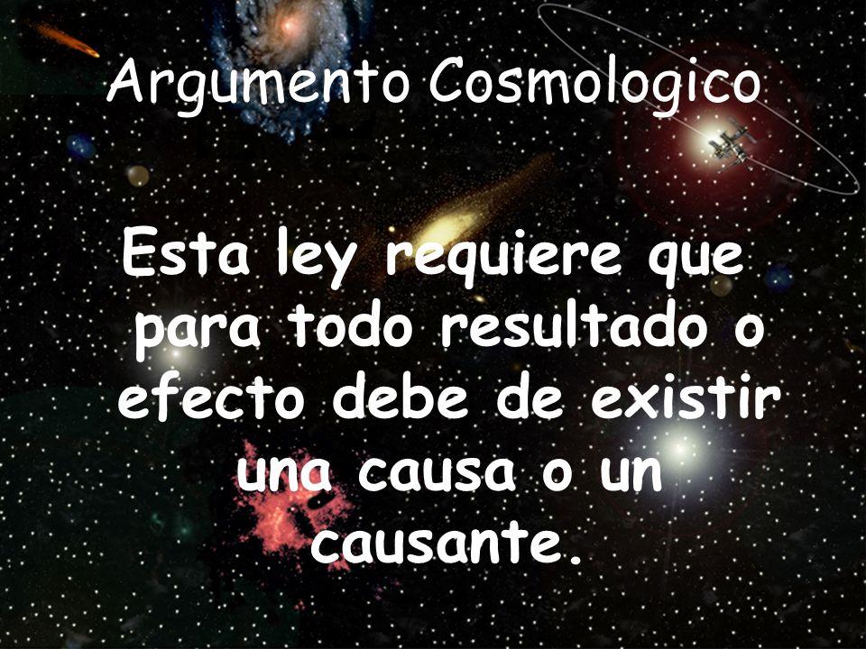 Argumento Cosmologico