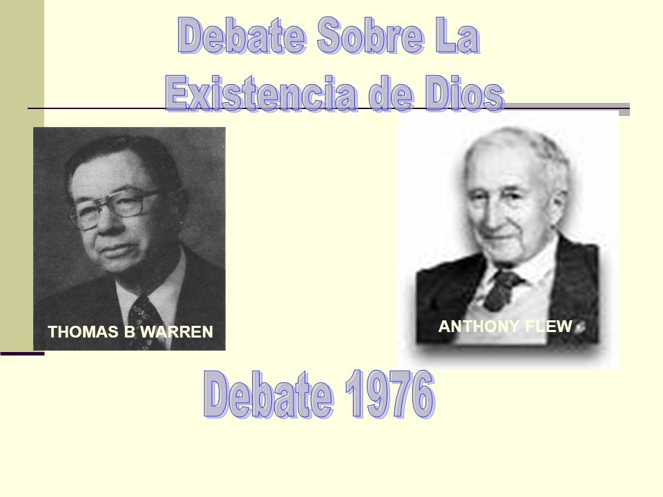 Debate Sobre La Existencia de Dios Debate 1976 ANTHONY FLEW