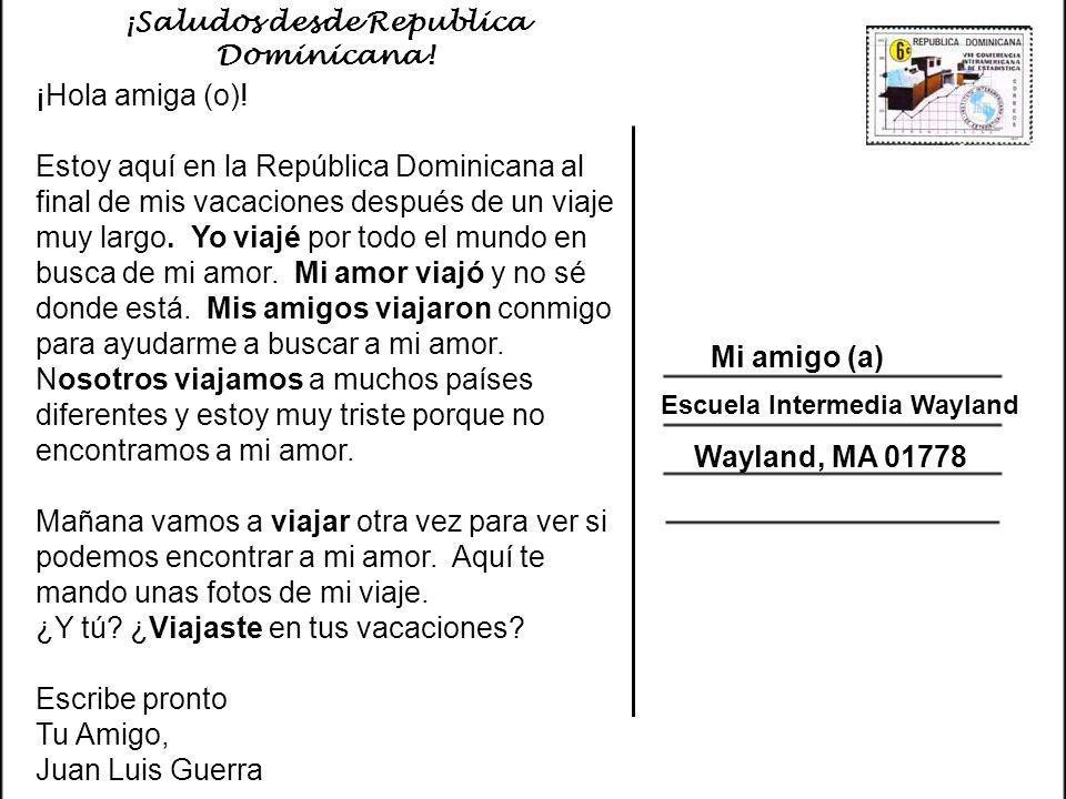 ¡Saludos desde Republica Dominicana!
