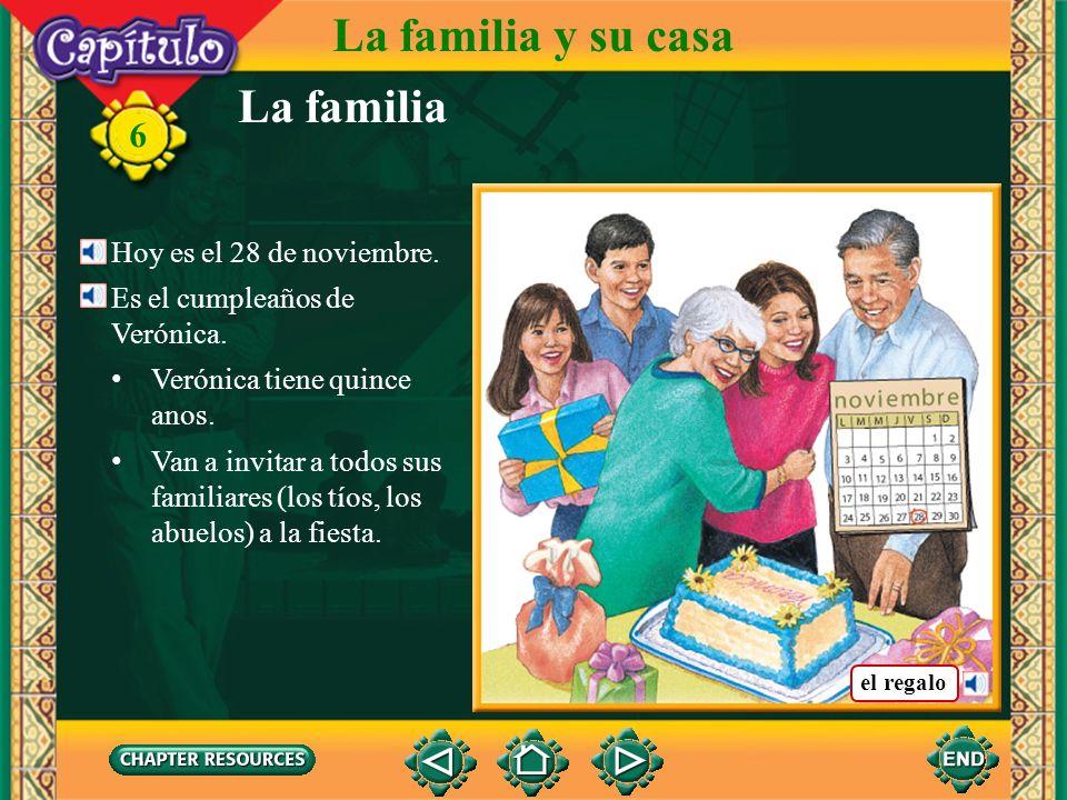 La familia y su casa La familia 6 Hoy es el 28 de noviembre.