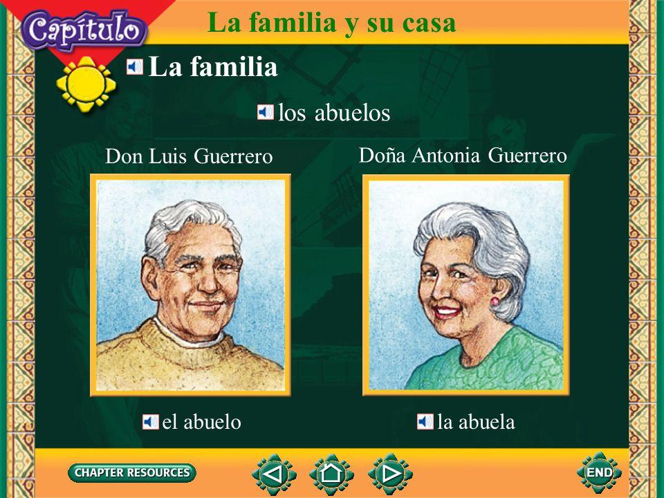 La familia y su casa La familia los abuelos Don Luis Guerrero