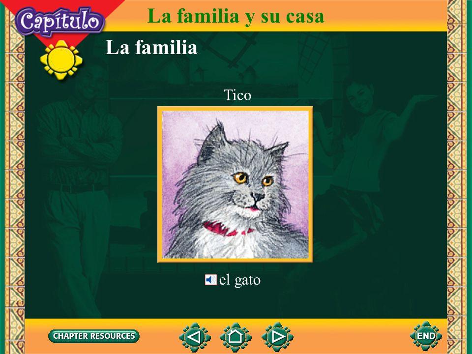 La familia y su casa La familia Tico el gato