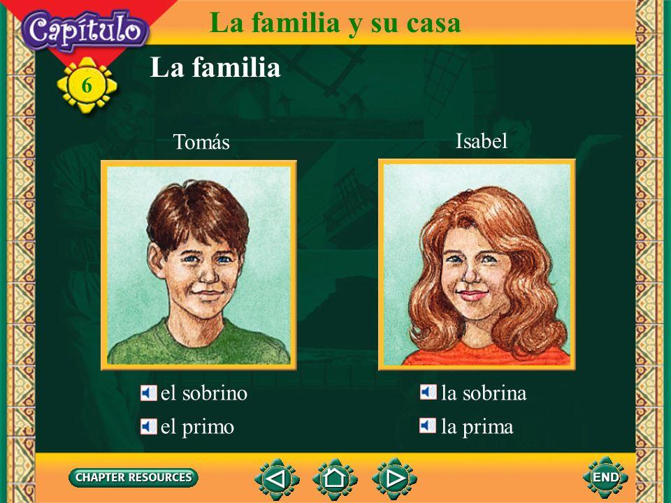 La familia y su casa La familia 6 Tomás Isabel el sobrino la sobrina