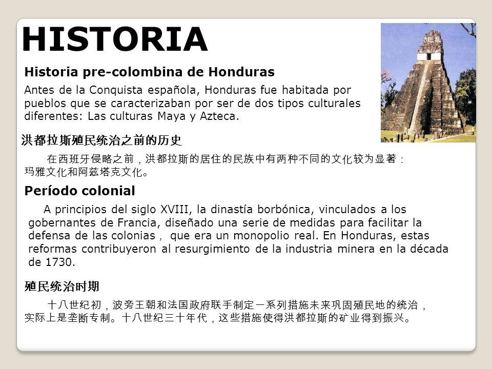 HISTORIA Historia pre-colombina de Honduras 洪都拉斯殖民统治之前的历史