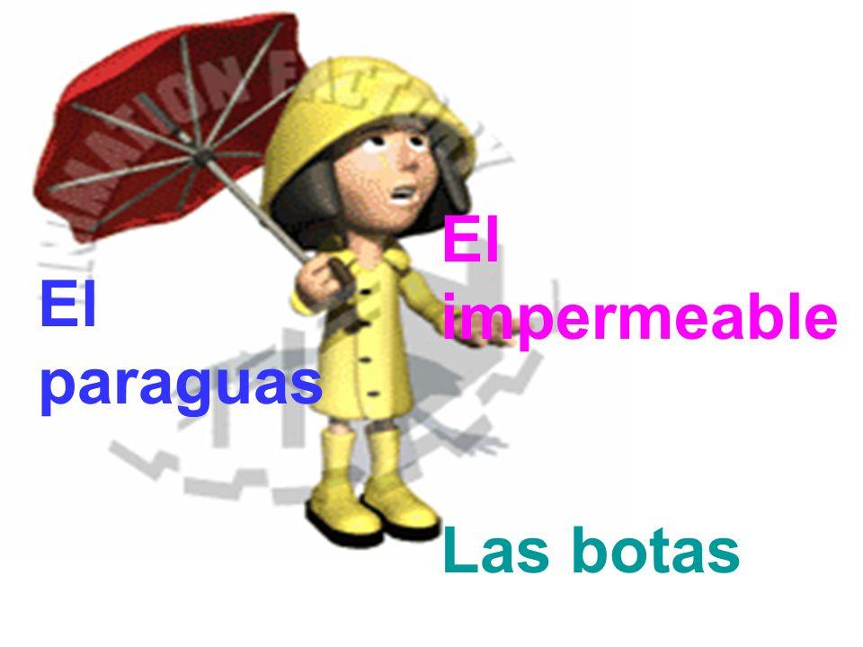 El impermeable Las botas El paraguas